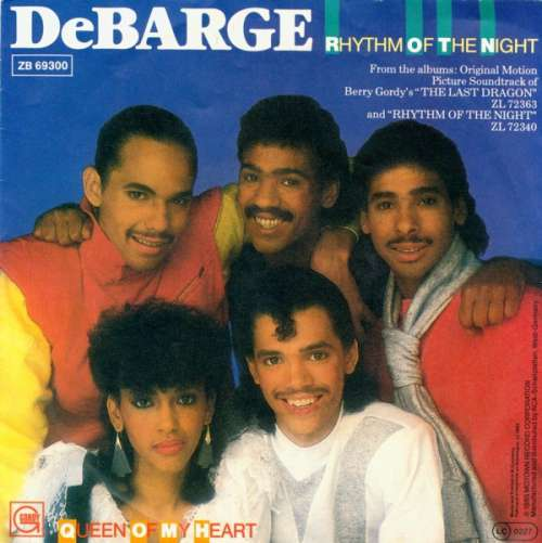 Cover zu DeBarge - Rhythm Of The Night (7, Single) Schallplatten Ankauf