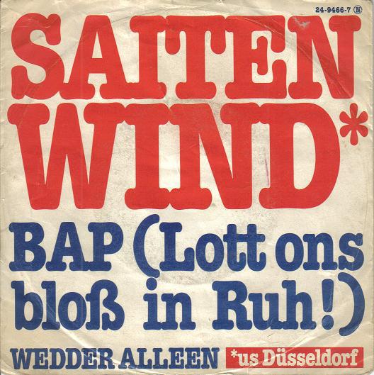 Bild Saitenwind - BAP (Lott Ons Bloß In Ruh!) (7) Schallplatten Ankauf