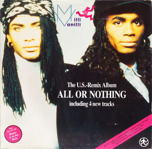 Cover Milli Vanilli - All Or Nothing - The U.S. Remix Album (LP, Album, Gat) Schallplatten Ankauf