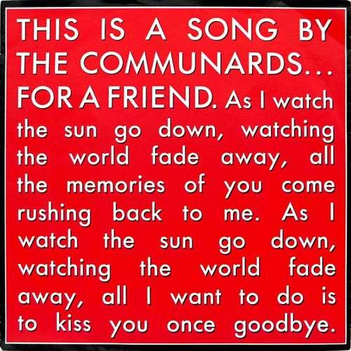Bild The Communards - For A Friend (7, Single) Schallplatten Ankauf