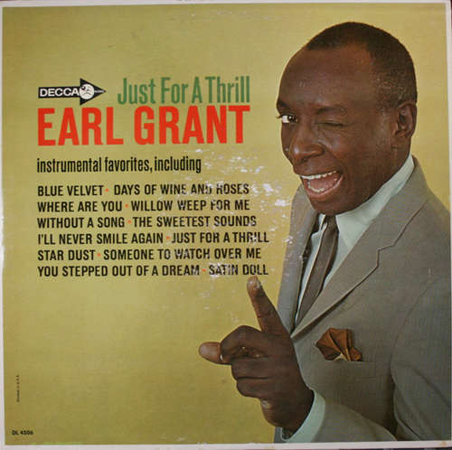 Cover Earl Grant - Just For A Thrill (LP, Album, Mono) Schallplatten Ankauf