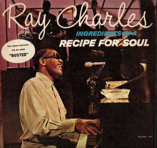 Cover zu Ray Charles - Ingredients In A Recipe For Soul (LP, Album, Mono) Schallplatten Ankauf