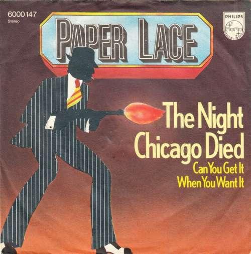 Cover zu Paper Lace - The Night Chicago Died (7, Single) Schallplatten Ankauf