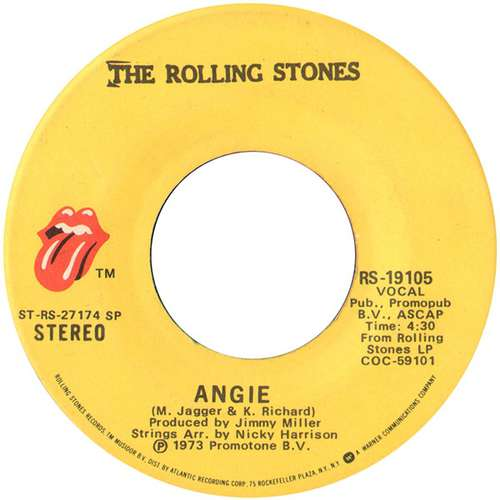 Bild The Rolling Stones - Angie (7, Single) Schallplatten Ankauf