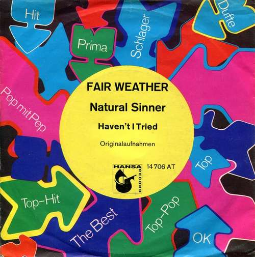 Bild Fair Weather - Natural Sinner (7, Single, Promo) Schallplatten Ankauf