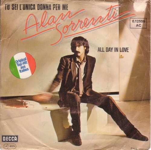 Cover zu Alan Sorrenti - Tu Sei L'unica Donna Per Me (7, Single) Schallplatten Ankauf