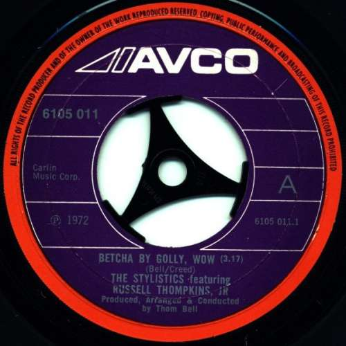 Bild The Stylistics Featuring Russell Thompkins, Jr. - Betcha By Golly, Wow (7, Single, Lar) Schallplatten Ankauf