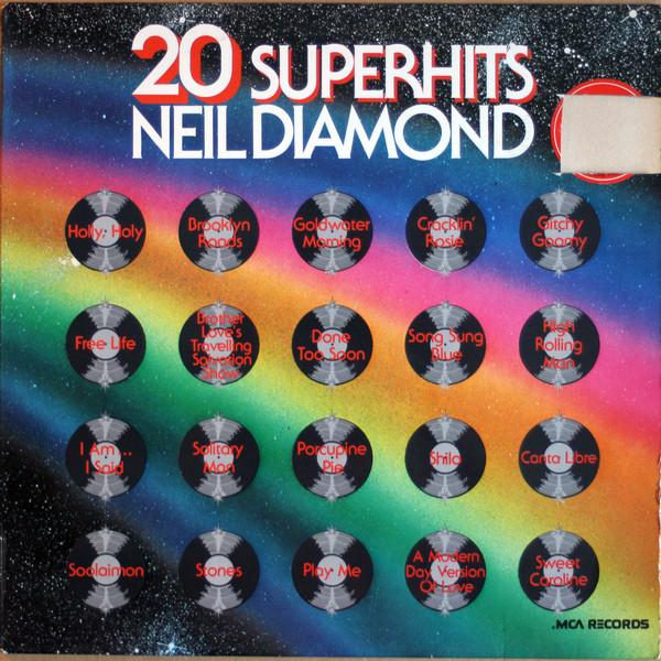 Cover Neil Diamond - 20 Super Hits (LP, Comp) Schallplatten Ankauf