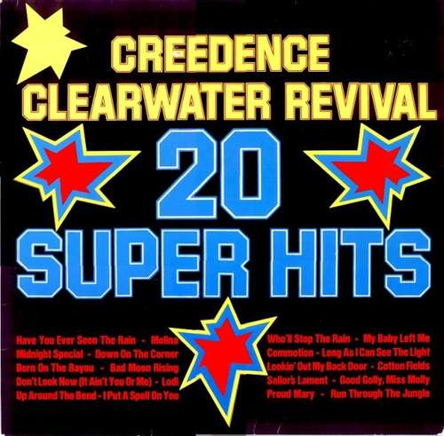 Cover Creedence Clearwater Revival - 20 Super Hits (LP, Comp) Schallplatten Ankauf