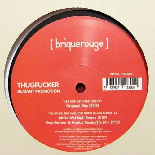 Cover zu Thugfucker - Blatant Promotion (12) Schallplatten Ankauf